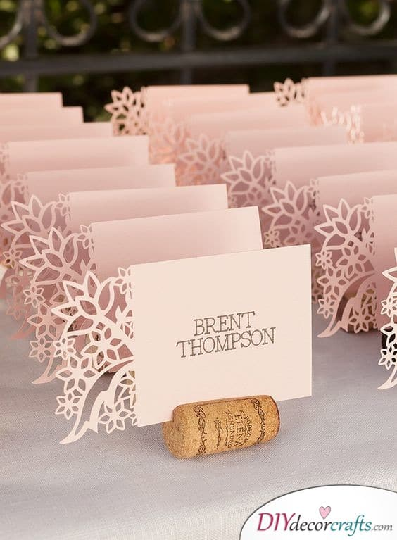 Floral Laser Cut - Beautiful DIY Wedding Place Cards