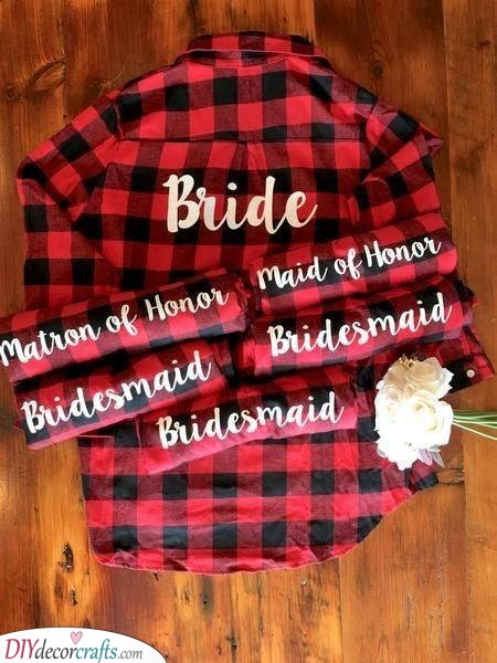 Checkered Shirts - Cool Gifts for Your Bridesmaids