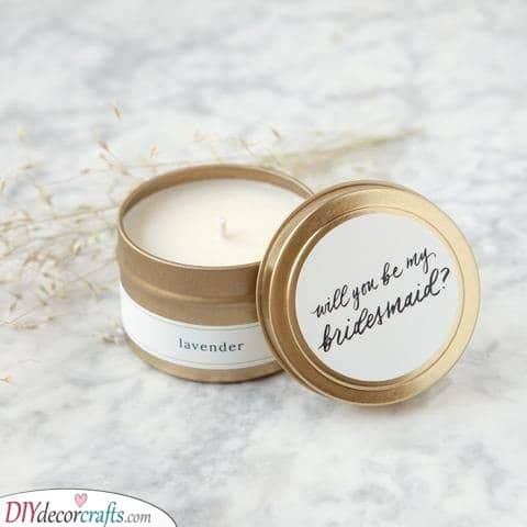 Scented Candles - Gifts for the Bridesmaids