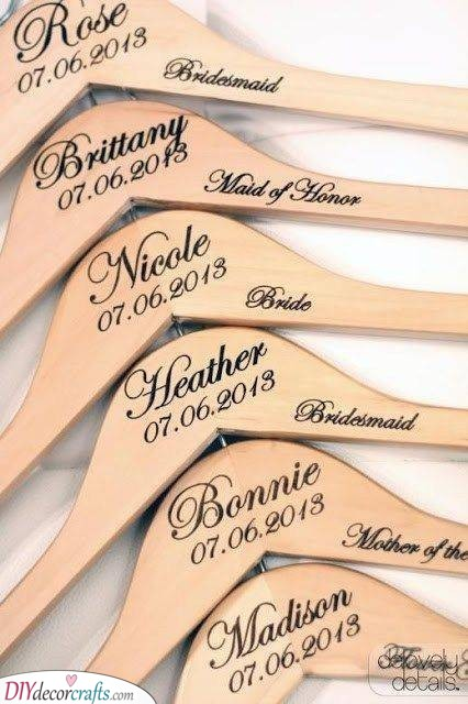 Coat Hangers - Creative Gifts for Your Bridesmaids