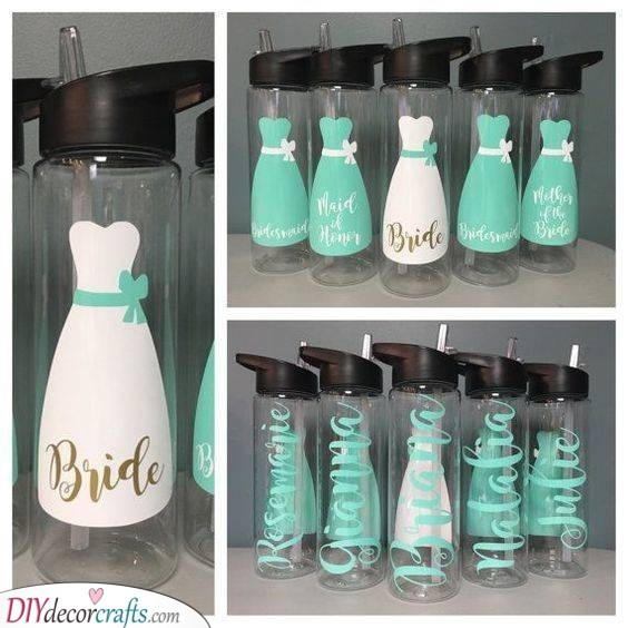 Water Bottles - Great Gifts for Your Bridesmaids
