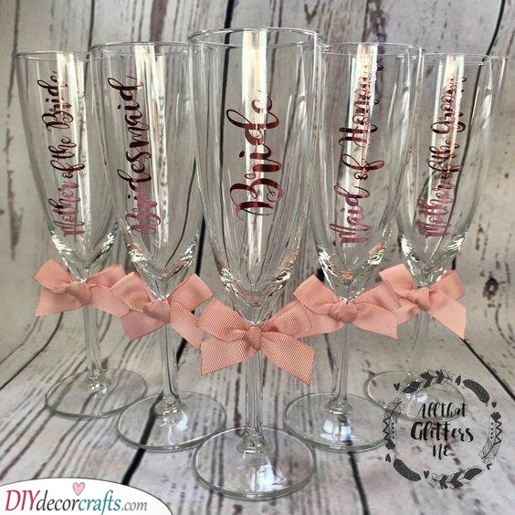 Champagne Glasses - Cute Gift Ideas for Your Bridesmaids