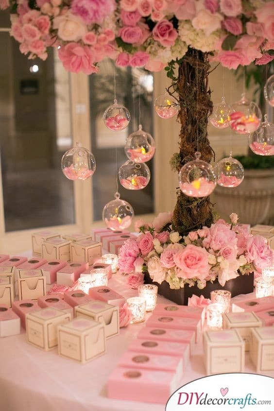 Blossoming Tree - Pink Wedding Decoration Ideas