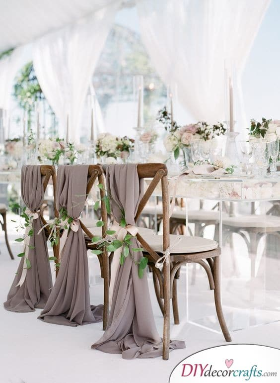 Fabric and Flowers - DIY Wedding Decorations