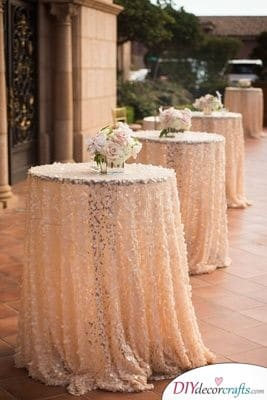 Fancy Cocktail Tables - Vintage Wedding Decorations