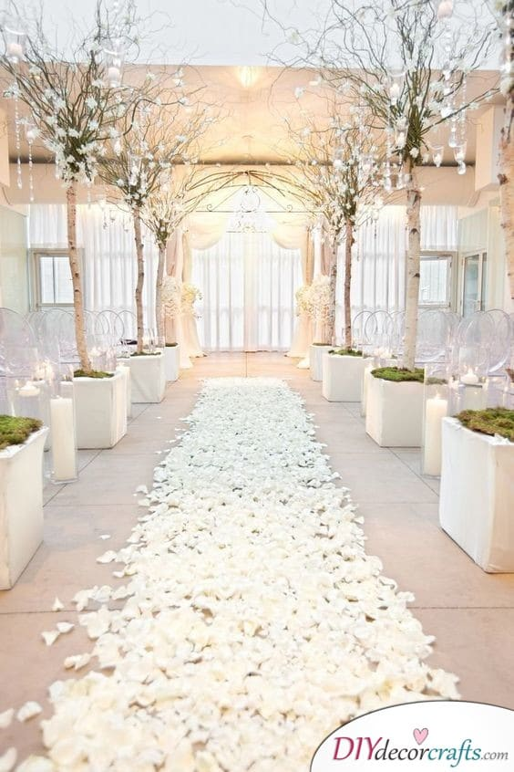White Elegance - Wedding Aisle Decor Ideas