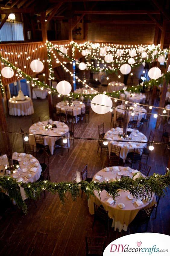 An Array of Lanterns - Cheap Wedding Decoration Ideas