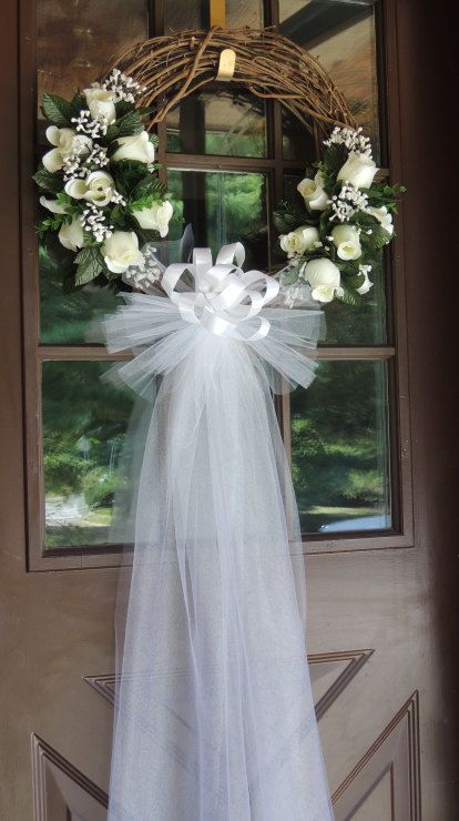 White Roses on a Wreath - Keeping It Simple