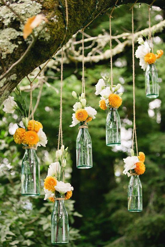 Hanging Flowers - Outdoor Wedding Decorations