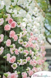 Flowery Backdrop - DIY Wedding Decorations
