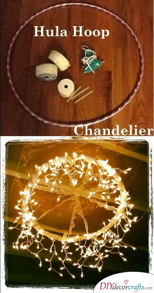 DIY Chandelier - Cheap Wedding Decoration Ideas