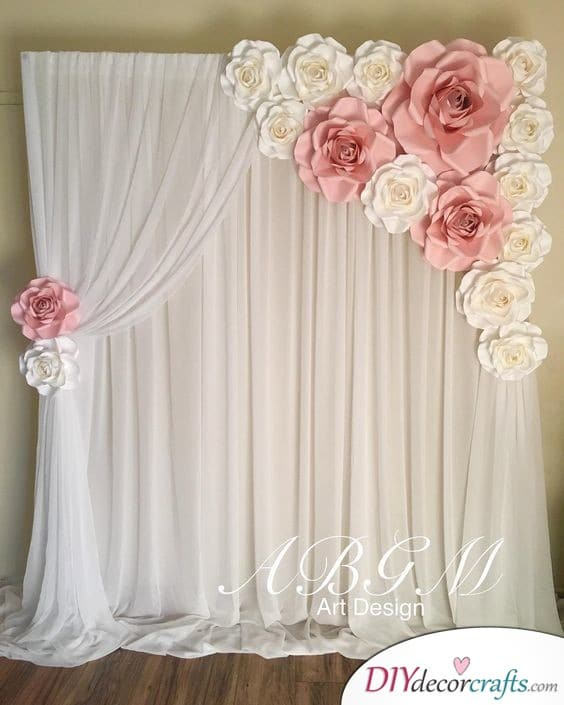 Rosy Backdrop - Romantic and Beautiful