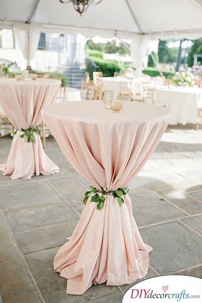 Gorgeous Cocktail Tables - Cheap Wedding Decoration Ideas