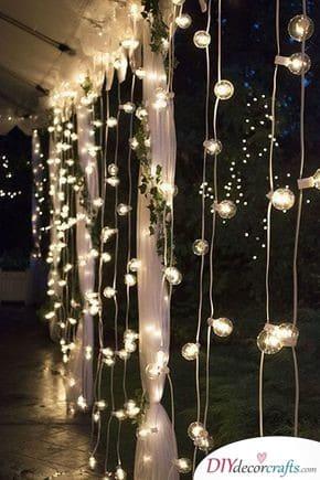 Strings of Light - DIY Wedding Decorations