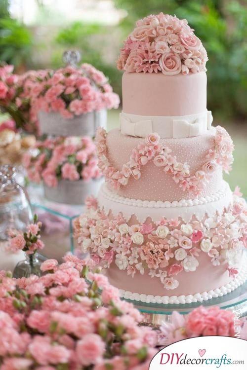 Pretty in Pink - Wedding Cake Ideas
