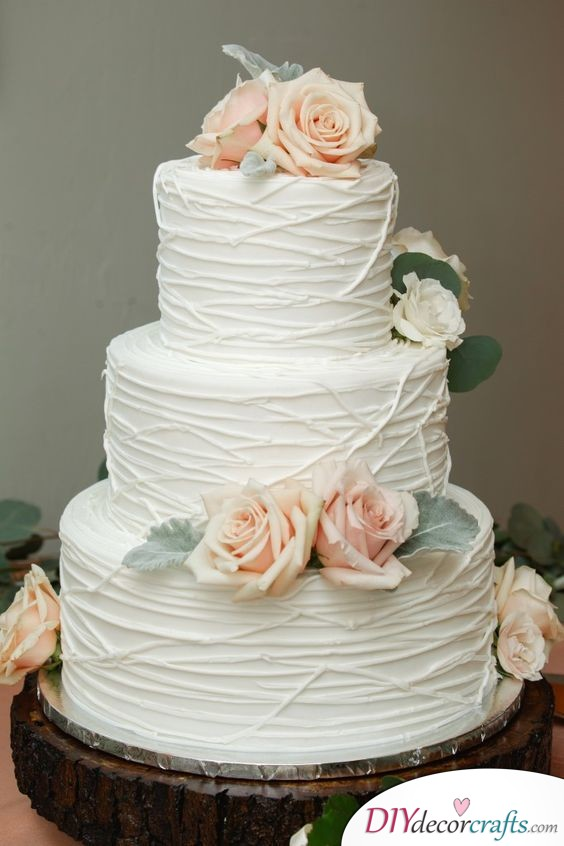 A Modern Touch - Simple Wedding Cake Decorations