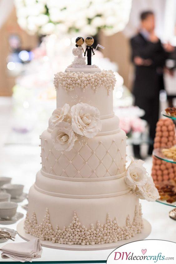 Traditional Elegance - Wedding Cake Decorations