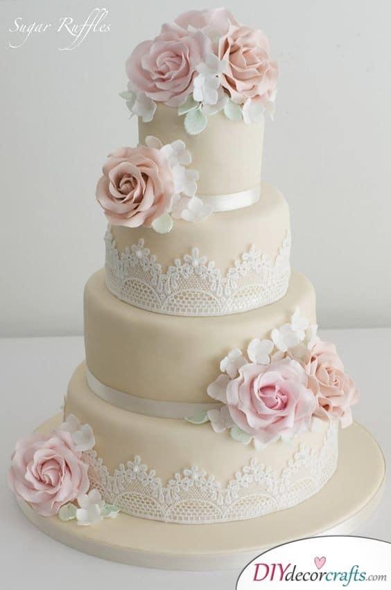 Elegant Lace - Wedding Cake Ideas