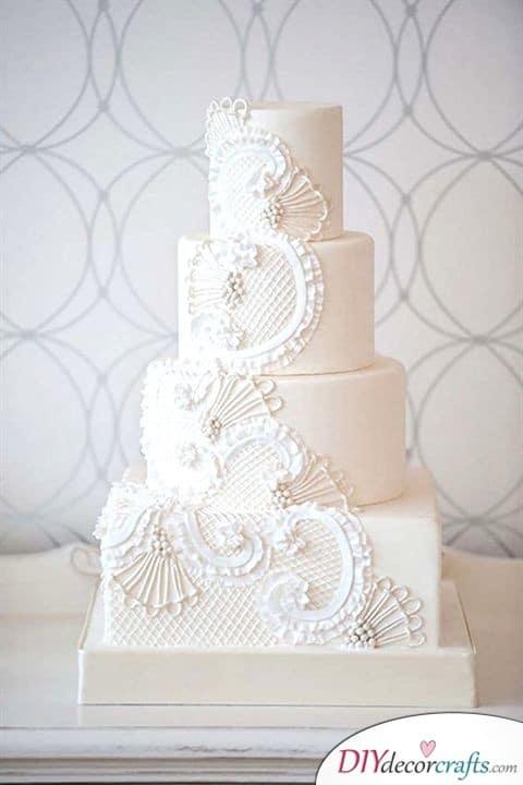 Exquisite Lace - Wedding Cake Decorations