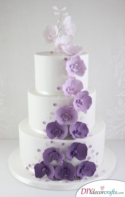 Only Orchids - Gorgeous Wedding Cake Ideas