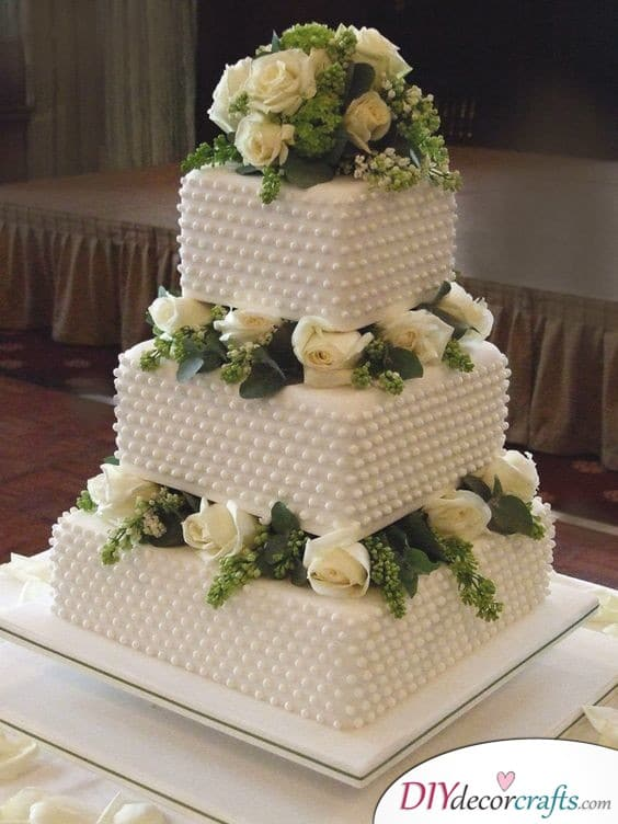 Boxes of Pearls - Wedding Cake Ideas