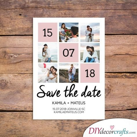 Cute Collage - Save the Date Wedding Ideas
