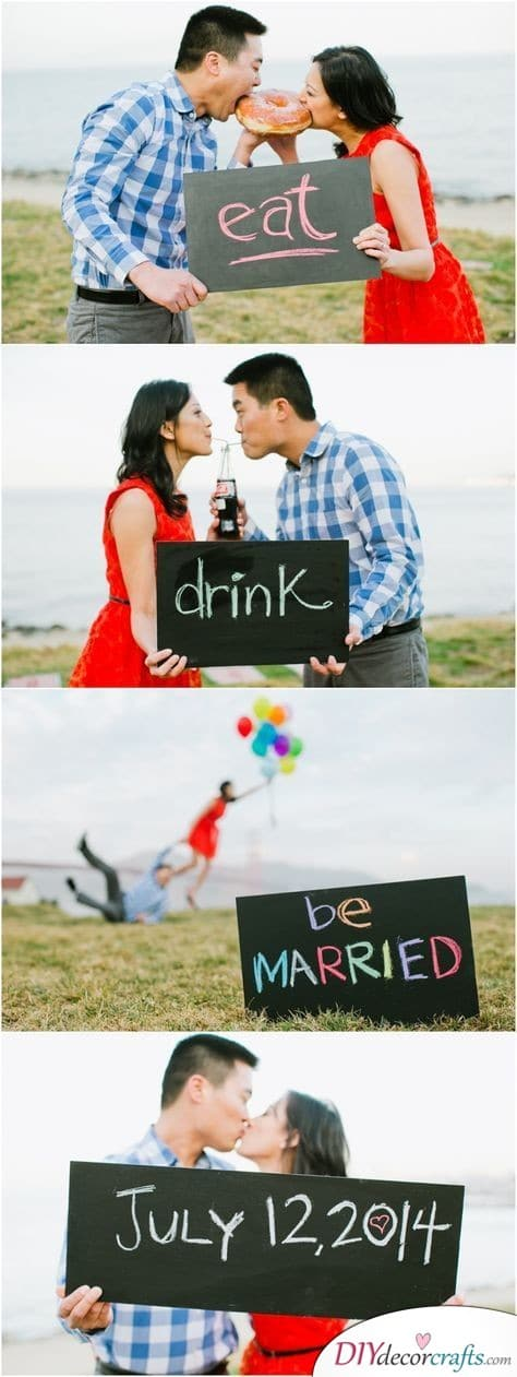 Beautiful Photo Series - Save the Date Wedding Ideas