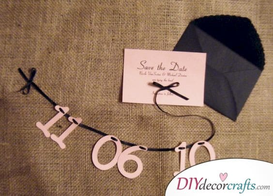 Stylish String - Save the Date Card Ideas