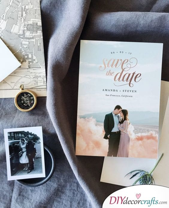 Romantic and Stylish - Save the Date Wedding Ideas