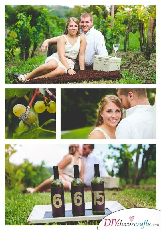 Awesome Wine Bottle Idea - Save the Date Wedding Ideas