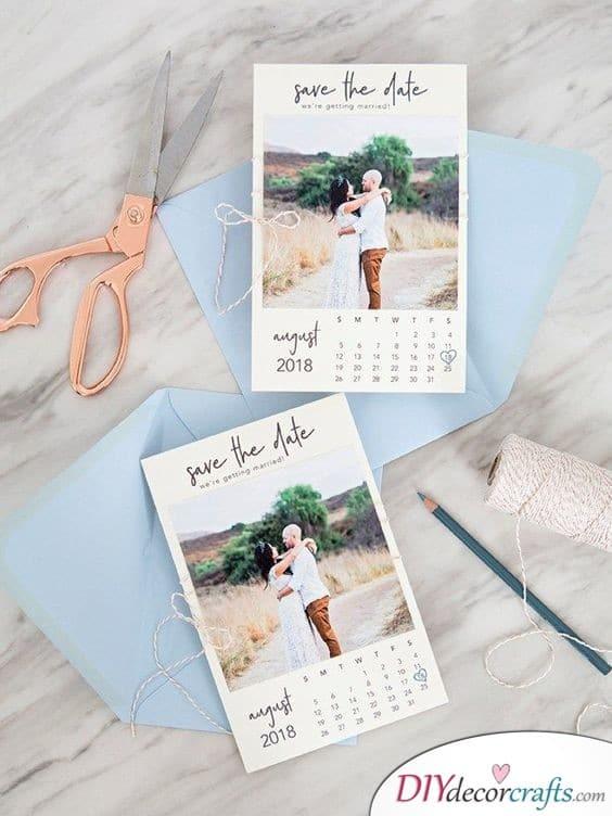 Another Calendar Idea - Amazing Save the Date Card Ideas