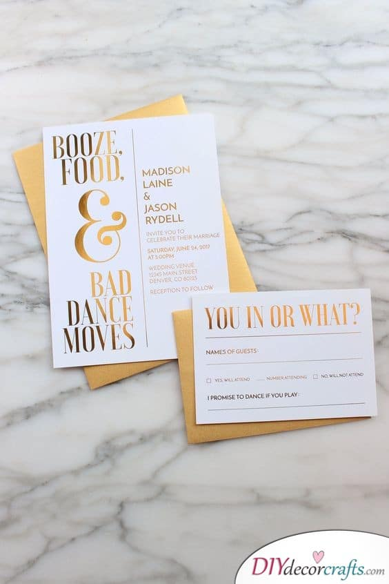 Glamorous and Gold - Save the Date Wedding Ideas