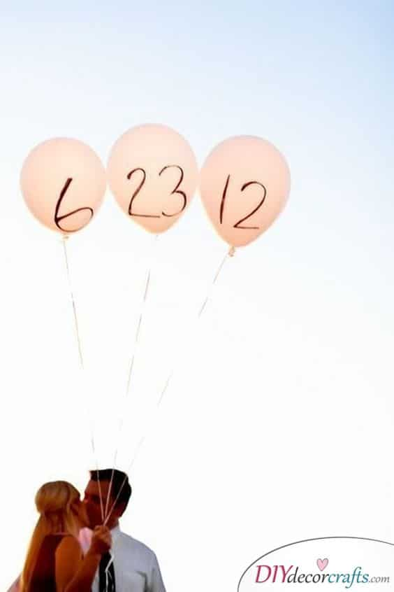 Vibrant Balloons - Save the Date Alternative