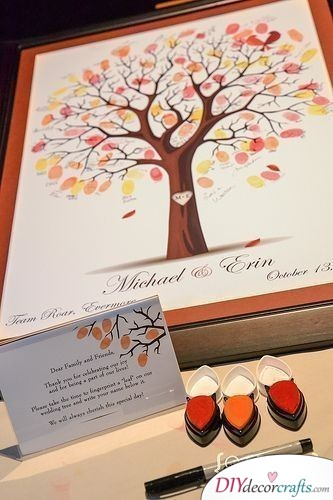 Fingerprints on the Personalized Wedding Guest Book - How to Get your Guests to Leave Their Mark
