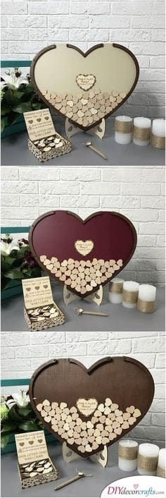Good Wishes in a Heart - A Creative Wedding Guest Book
