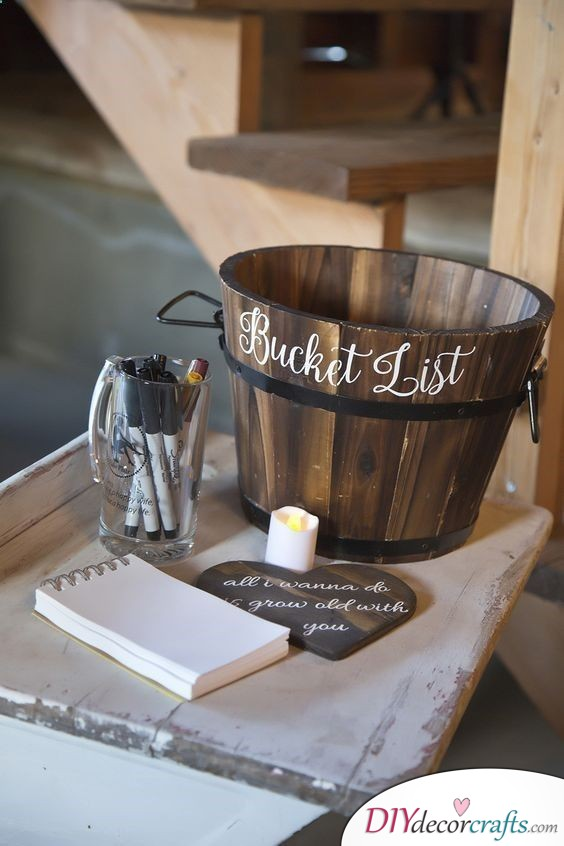 Get Your Guests to Write you a Bucket List - A Challenge for Everyone