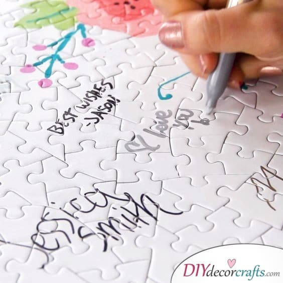 Puzzle Wedding Guest Book - Wedding Guest Book Ideas