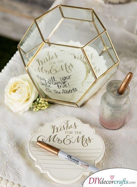 Sheer Elegance - The Best Wedding Guest Book Ideas
