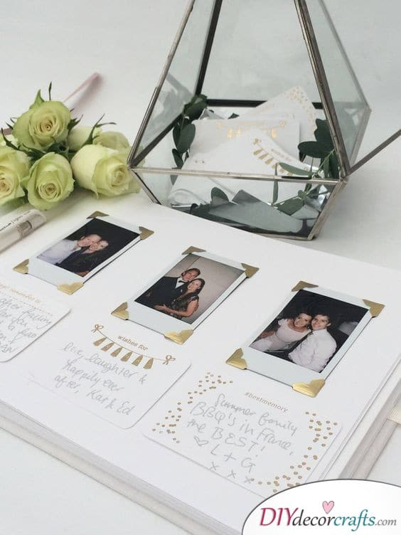 A Decorative Album - Polaroid Wedding Guest Book