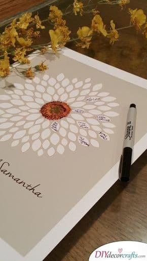 Floral Wedding Guest Book Ideas - Classic, yet Modern