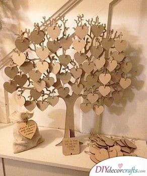 A Tree Blossoming with Good Wishes - A Truly Unique Wedding Guest Book