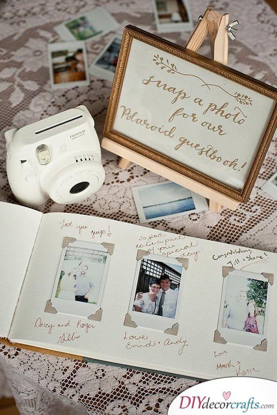 Polaroid Selfies - Unique Wedding Guest Book