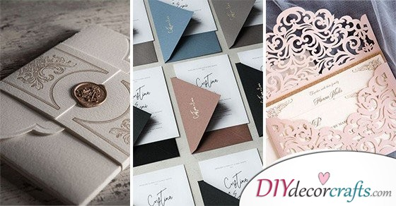 40 AWESOME DIY WEDDING INVITATION CARDS - A Collection of Handmade Wedding Invitations
