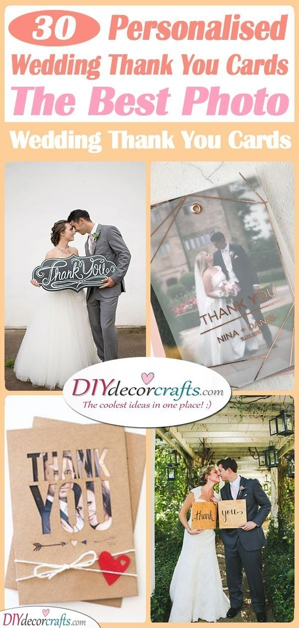 30 Personalised Wedding Thank You Cards The Best Photo