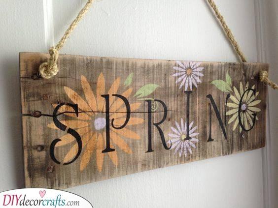 Spring is Here - Spring Door Decoration Ideas