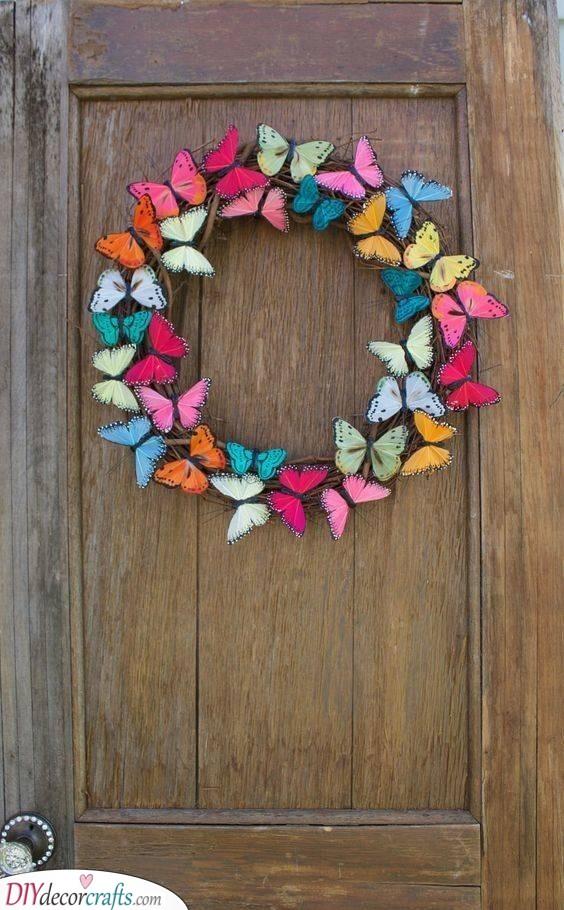 Beautiful Butterflies - Great Spring Wreaths for Front Door