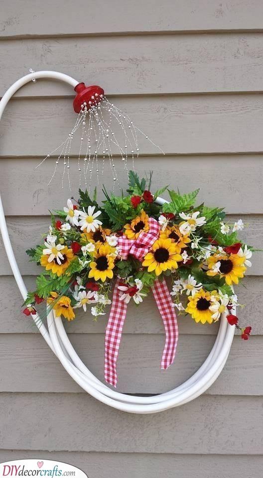 Shower Your Flowers - Spring Wreaths for Front Door