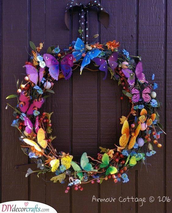 Fluttery Butterflies - Spring Wreaths for Front Door