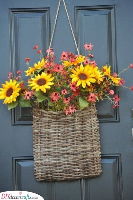 A Bag Full of Flowers - Alternatives to Spring Wreaths