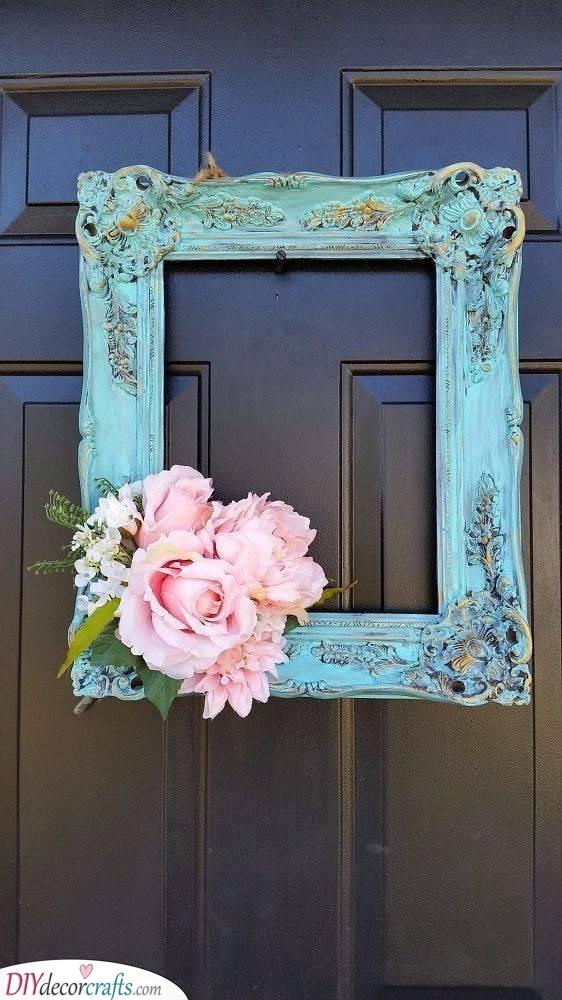 Frame Your Door - Spring Door Decoration Ideas